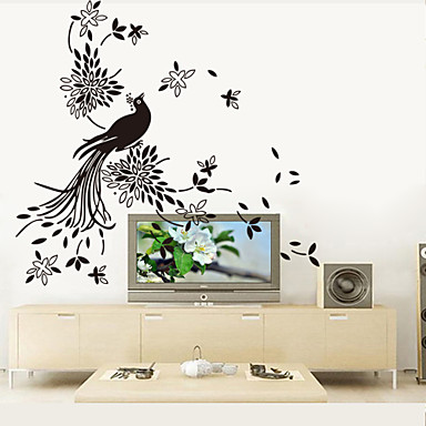 9252 Art Picture With Peacock Wall Stickers Chinese Painting Wall Decals  For Living Room DIY Home Decorations 4651038 2018 U2013 $4.99