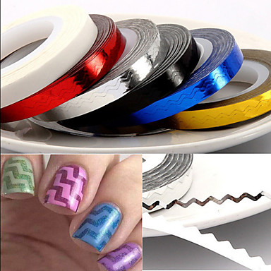 1pcs Nail Jewelry nail art Manicure Pedicure Lovely Fashion Daily / PVC(PolyVinyl Chloride)