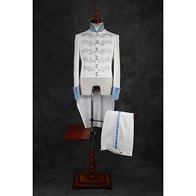 Kristall Mönster Skräddarsydd passform Polyester Kostym - Mandarin Krage Singelknäppt Fler Knappar