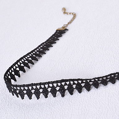 levne Dámské šperky-Dámské Obojkové náhrdelníky Tork Gothic šperky dámy Tetování Módní Krajka Látka Černá Náhrdelníky Šperky Pro Svatební Párty Denní Ležérní / tetování obojek