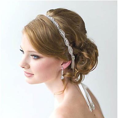 levne Dámské šperky-Dámské Vintage Svatba Ručně Vyrobeno Křišťál Zirkon Štras Křišťál Čelenky Šperky do vlasů Svatební Párty