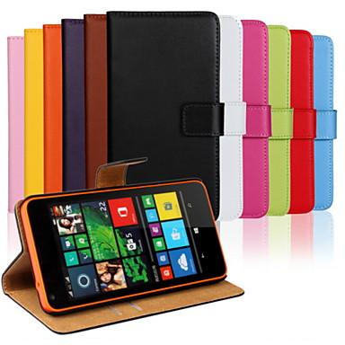 fodral Till Nokia Lumia 820 / Nokia Lumia 1020 / Nokia Lumia 625 Nokia Lumia 640 XL Plånbok / Korthållare / med stativ Fodral Enfärgad Hårt PU läder