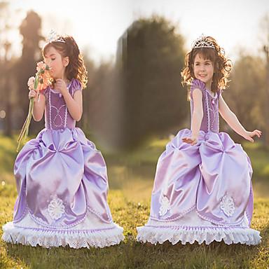 Satin Purple Princess Little Girls\' Ball Gown Dress Snow Princess ...