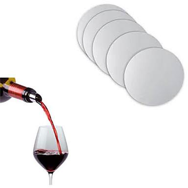10pcs återanvändbar diskfolie vinhällare juice bar flaska tipp stoppare