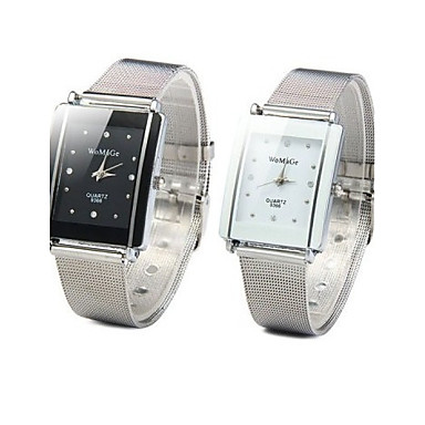 ieftine Ceasuri pătate și dreptunghiulare-Pentru femei Ceas La Modă Piața de ceas Quartz femei Ceas Casual Argint Analog - Alb Negru Un an Durată de Viaţă Baterie / SSUO 377