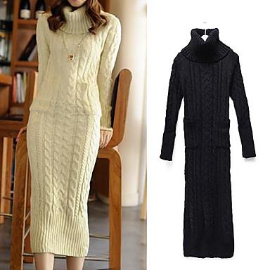 dámské pletené vlny svetr móda dlouhé šaty (více barev) 2578733 2019 –   41.99 3a7ca334d4