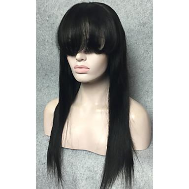 Remy-hår Spetsfront Peruk stil Rak Peruk Korta Mellan Lång Äkta peruker med hätta StrongBeauty