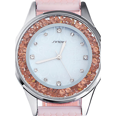 povoljno Ženski satovi-SINOBI Žene Luxury Watches Casual sat Modni sat Kvarc Silikon Pink 30 m Vodootpornost Analog dame - Pink