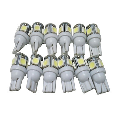 12st T10 Bilar Glödlampor 2.5 W SMD 5050 90 lm 5 LED Utomhuslampor lampor Till Universell Alla modeller Alla år