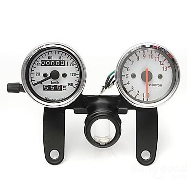 motorcykel vägmätare varvräknare hastighetsmätare mätare med svart fäste