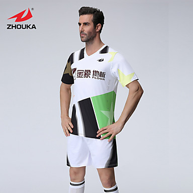 090ae9587 ZHOUKA® Customized Personalized Custom (Word + Number) Soccer Kit Football  Jersey Sportswear Team Polo Shirt + Shorts 4765587 2019 –  41.59