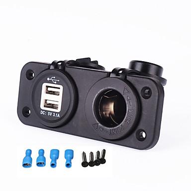 billige Bil Elektronikk-iztoss billader 12-24v sigarettenneruttak 5v 3.1a dual usb adapter for motorsykkelbil