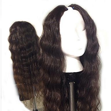 povoljno Perike i ekstenzije-Ljudska kosa Perika s U-otvorom Perika Srednji dio stil Brazilska kosa Tijelo Wave Priroda Crna Perika 130% Gustoća kose s dječjom kosom Prirodna linija za kosu Afro-američka perika 100% rađeno rukom