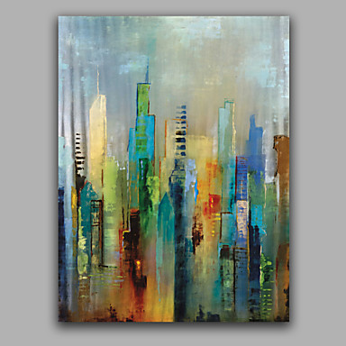 Hand Painted Abstract Vertical European Style Canvas Oil