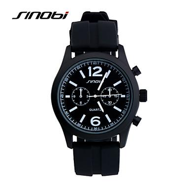 Pánské Náramkové hodinky Křemenný Voděodolné Sportovní hodinky Silikon  Kapela Černá Značka SINOBI 4824362 2019 –  15.99 71b44965b5e