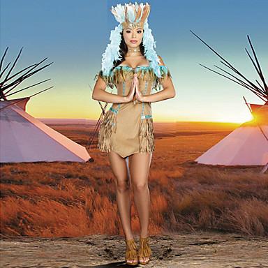 Halloween / Karnival / Nyår - Egyptian Costumes / Etnisk & Religös - Dräkter/Kostymer - med Klänning / Knyta / Huvudbonad - till Kvinna