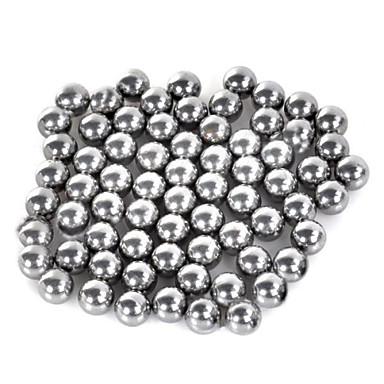 7mm kolstål slangbella boll silver 70 st
