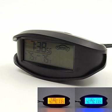 12V   24V használatát narancs   kék háttérvilágítású LCD kijelző a beltéri    kültéri hőmérő feszültségmérőn 1c81715ea7