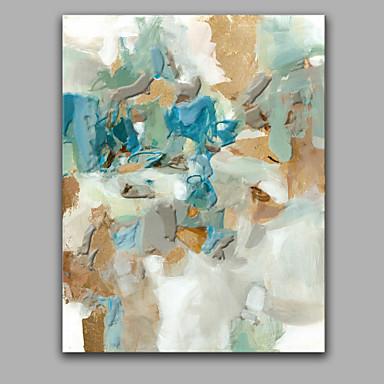 povoljno Ulja na platnu-Hang oslikana uljanim bojama Ručno oslikana - Sažetak Moderna With Frame / Prošireni platno