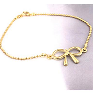Dam Ankelkedja Ihålig Rosett damer Minimalistisk Stil Legering Armband Smycken Silver Till Party Dagligen Casual