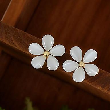povoljno Modne naušnice-Žene Sintetički opal Sitne naušnice Cvijet jeftino dame Naušnice Jewelry Obala Za Vjenčanje Party Dnevno Kauzalni