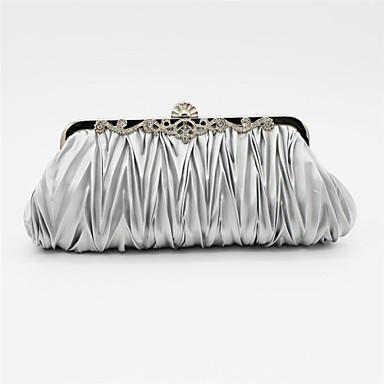 cheap Clutches & Evening Bags-Women's Crystal / Rhinestone Satin Evening Bag Rhinestone Crystal Evening Bags Solid Colored Pink / Light gray / Watermelon Pink / Wedding Bags / Wedding Bags