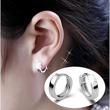 Men's Women's Stud Earrings Hoop Earrings Bridal Birthstones Simple Style Sterling Silver Alloy Jewelry Jewelry Silver Wedding Party