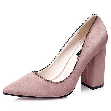 c62cd38b4d1 Γυναικεία παπούτσια - Γόβες - Καθημερινά - Χοντρό Τακούνι - Με Τακούνι -  Βελούδο -Μαύρο / Πράσινο / Ροζ / Μωβ / Κόκκινο / Γκρι / Μπορντώ 4803410  2019 – ...