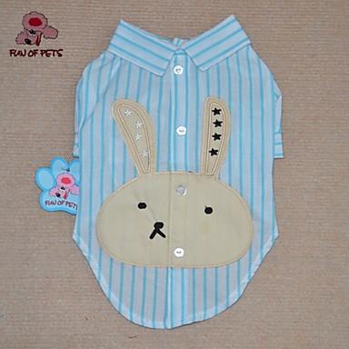 Katt Hund T-shirt Hundkläder Tecknat Purpur Blå Rosa Cotton Kostym Till Vår & Höst Sommar Herr Dam Ledigt / vardag