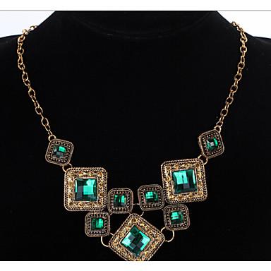 Dam Uttalande Halsband geometriska faceter Lyx Vintage Europeisk Elizabeth Locke Legering Skärmfärg Halsband Smycken Till