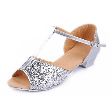 ef713d91 Dansesko (Sølv / Guld) - Kan ikke tilpasses - Flade hæle - Damer / Børn -  Mavedans / Latin / Dansesko / Moderne / Flamenco / Samba 4800360 2019 –  $15.99