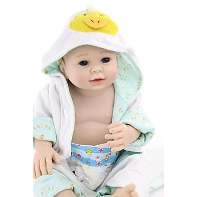 NPK DOLL Reborn-dockor Spädbarn Silikon Vinyl - Nyfödd levande Söt Handgjord Barnsäkert Ogiftig Unge Flickor Leksaker Present / Vackert / CE / Naturlig hudton / Floppy Head