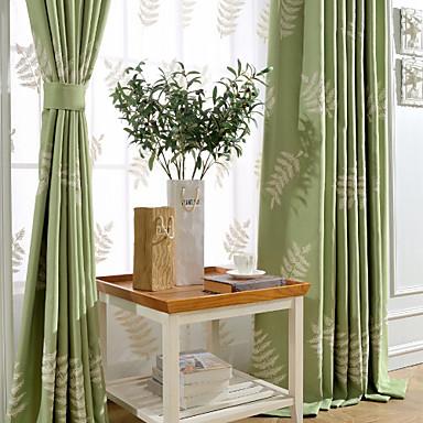 En panel Fönster Behandling Modern Sovrum Linne/Bomull blend Material gardiner draperier Hem-dekoration For Fönster