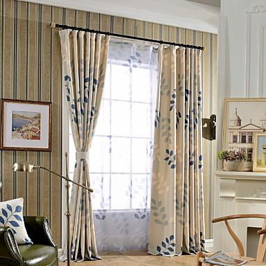 gardiner gardiner två paneler sängkläder / bomull blandning tryck