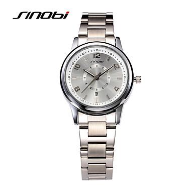 SINOBI Dam Armbandsur Quartz Silver 30 m Vattenavvisande Kalender Ramtyp damer Mode Elegant - Silver Två år Batteriliv / Sony SR626SW
