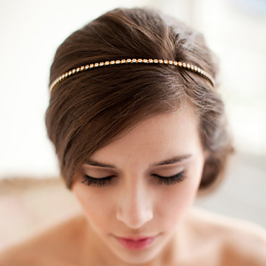 povoljno Party pokrivala za glavu-Legura Trake za kosu / Šeširi s Cvjetni print 1pc Vjenčanje / Special Occasion Glava