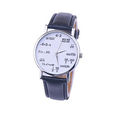 Dam Armbandsur Quartz Vadderat PU-läder Svart / Vit / Brun Ramtyp damer Berlock Mode - Vit Svart Vit / Svart / Rostfritt stål