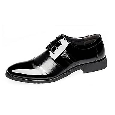Hombre Zapatos Microfibra Primavera Confort Oxfords Negro WT4X8J29f
