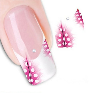 1 pcs 3D Nail Stickers Water Transfer Sticker nail art Manicure Pedicure Lovely Abstract / Fashion Daily