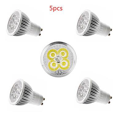 5pcs 4 W LED-spotlights 350 lm E14 GU10 GU5.3 4 LED-pärlor Högeffekts-LED Dekorativ Varmvit Kallvit 85-265 V / 5 st / CE
