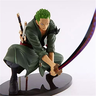preiswerte Action & Spielfiguren-Anime Action-Figuren Inspiriert von One Piece Roronoa Zoro 18 cm CM Modell Spielzeug Puppe Spielzeug Herrn Jungen Mädchen