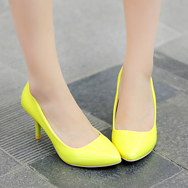 Shoes For Women Microfibre Stiletto Heel Heels Comfort Pointed Toe Heels Office CBlack Blue Yellow Pink