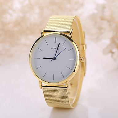 levne Pro muže-Pánské Dámské Náramkové hodinky Křemenný Nerez Stříbro / Zlatá Hodinky na běžné nošení Analogové Cikánské Módní - Stříbrná Zlatá