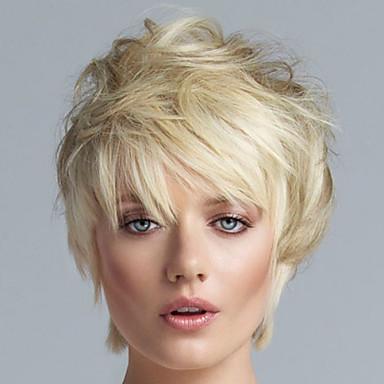 Peruci Sintetice Păr Scurt Fermecător Pentru Mediu Blond Peruca