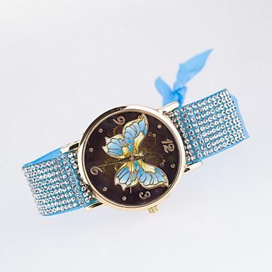 levne Dámské-Dámské Náramkové hodinky Křemenný Černá / Bílá / Modrá imitace Diamond Analogové dámy Na běžné nošení Motýl Simulovaná hodinky Diamond Módní - Růžová Světle modrá Khaki Jeden rok Životnost baterie