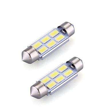 preiswerte Auto Lampen-2pcs 36mm Auto Leuchtbirnen 2 W SMD 5730 120 lm 6 LED Innenbeleuchtung Für