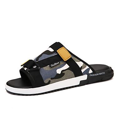 b299b941e24 Sandály   Nazouvací - Černá   Modrá   Zelená - Pánské boty - Outdoor    Běžné   Atletika - Len   Látka 4816437 2019 –  22.99