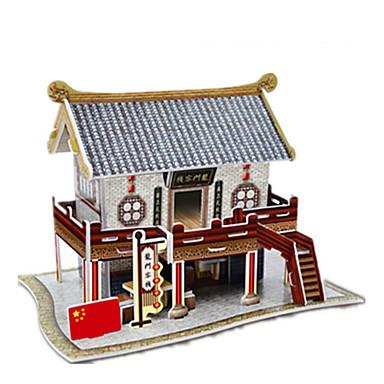 Pussel 3D-pussel Pappersmodell Byggblock GDS-leksaker Kinesisk arkitektur Papper