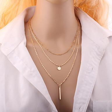 povoljno Modne ogrlice-Žene Choker oglice Više slojeva Jabuka jeftino dame Moda Više slojeva Legura Pink Zlatan Ogrlice Jewelry Za Vjenčanje Party Dnevno Kauzalni
