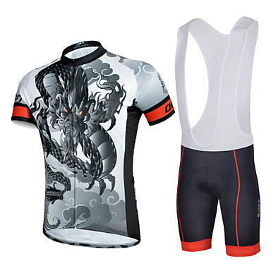 cheji® Αθλητική φανέλα και σορτς ποδηλασίας Ανδρικά Κοντομάνικο Ποδήλατο  Σορτσάκι με τιράντες Αθλητική μπλούζα θερμοκοιτίδων Arm Σετ 4853955 2019 –   39.99 1bfb466d351
